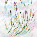'Spirit Me Away' original acrylic abstract Floral plant-life painting on canvas