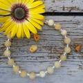 Yellow Jade Beaded Bracelet