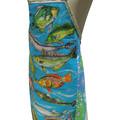 Metro Retro Vintage Tea Towel Australian COCKATOOS or FISHES Linen Apron