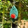 Polymer clay ladybug / lady beetle keyring