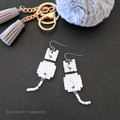 6 Colours Cat Earrings with Dangly Tails