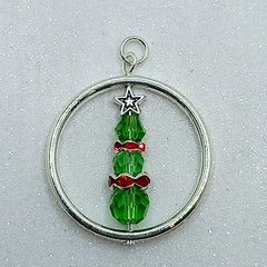 Christmas Tree Beaded Decorations/Necklace Pendant