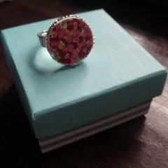 Royal Winton Chintz China Adjustable Ring   #076