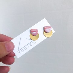 Musk + Marble Mini Moonrise Studs, 3 in 1 w/ removable GOLD disc