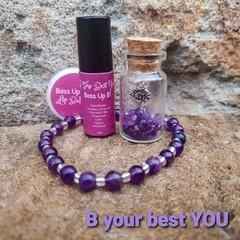 B Your Best You, Friendship giftbox - Amethyst