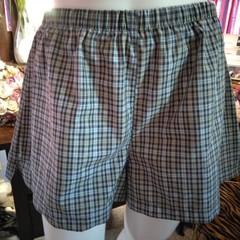 PLUS SIZE TARTAN PJ BOXER SHORTS sleepwear/lounging  100% cotton size L (18 -20)
