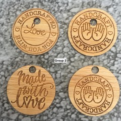 Product Tags - Button style #2 from Bamboo. From $0.50 per Tag - FREE Shipping