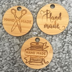 Product Tags - Button style #1 from Bamboo. From $0.50 per Tag - FREE Shipping