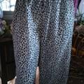 WOMENS PLUS SIZE PJ pants, leopard print in cotton voile. Size L - fits 18 - 20