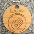 Product Tags - Button style #3 from Bamboo. From $0.50 per Tag - FREE Shipping