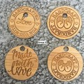 Product Tags - Button style #2 from Bamboo. From $0.80 per Tag - FREE Shipping