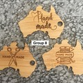 Product Tags - Australia style #8 - Bamboo. From $0.59 per Tag - FREE Shipping