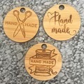 Product Tags - Button style #1 from Bamboo. From $0.80 per Tag - FREE Shipping