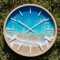 30 cm Beach Resin Art Wall Clock