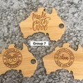 Product Tags - Australia style #7 - Bamboo. From $1.00 per Tag - FREE Shipping
