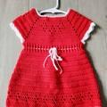 Crochet Christmas Dress - 3-6 months