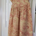 Baby doll dress in French toile - claret