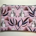 Pink kangaroos pencil case