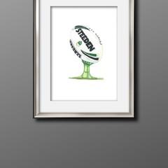 AFL Football A3 Size Print