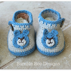 Crochet Baby Booties That Stay On, Baby Slippers, Teddy Bear Baby booties