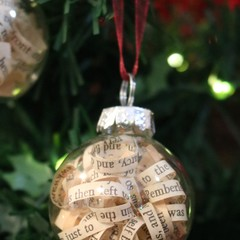 Small Christmas Bauble ~ Filled with your favorite book curls ~ Book Bauble ~