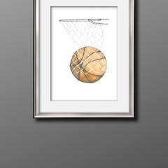Basketball A3 Print