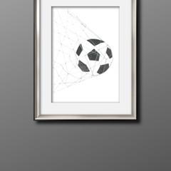 Soccer Ball Print A3 Size