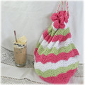 Project bag or beach bag cotton, crochet,