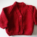 6 to 9 months Red Baby jacket