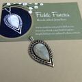 OOAK Woven Silver and Kyanite Teardrop Pendant