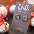 The Onyx Collection - resin stud earrings
