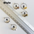 Small Corrugated Metal Ball Beads hoop earrings, Gold Silver Bronze Brown Black