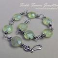 Silver and Gemstone Bracelet - Prehnite