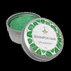 Shampoo Bar - Spearmint | 75g Bar packaged in an Aluminium Travel Tin.