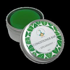 Conditioner Bar - Spearmint | 60g Bar packaged in an Aluminium Travel Tin.