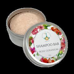 Shampoo Bar - Rose Geranium | 75g Bar packaged in an Aluminium Travel Tin.