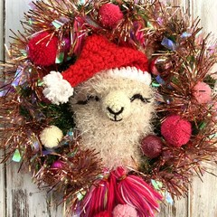 Llama Wreath Handmade Christmas decor