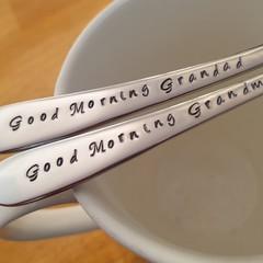 Custom Grandparent Gift,Good morning Grandma, Good morning Grandad,