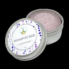 Shampoo Bar - Lavender | 75g Bar packaged in an Aluminium Travel Tin.