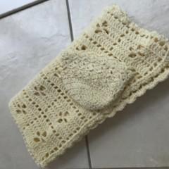 Crochet 100%cotton,,Blanket,Bassinet, Pram with Bonnet