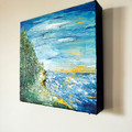 'Distant Dreams and Dragons II' Series Abstract Landscape Seascape Painting