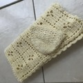 Crochet 100%cotton,,Blanket,Bassinet, Pram with Bonnet