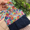 Button Fabric Hand Towel - Coloured Print