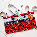 Preschool teacher vendor daycare apron - 6 pockets - Strawberries