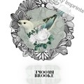 Brooke White Vintage Floral Bird Custom Name Digital Download