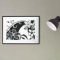 Printable MODERN TROPICAL FLOWER Art Print