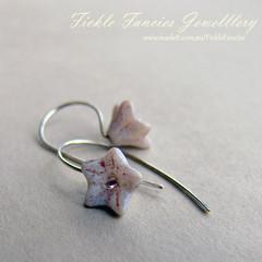Simply Hooked Pink Flower Earrings