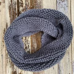 Knitted grey infinity scarf, grey cowl, grey mens scarf, ladies scarf, ladies