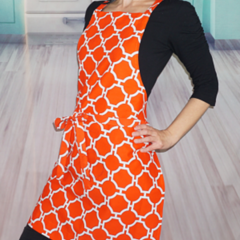 Orange Womens Kitchen Apron FREE Post!