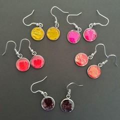 Let's Party Rose Silver Drop Earrings